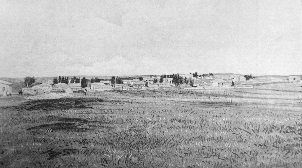 Panorama of the Mikveh Agricultural School, near Jaffa