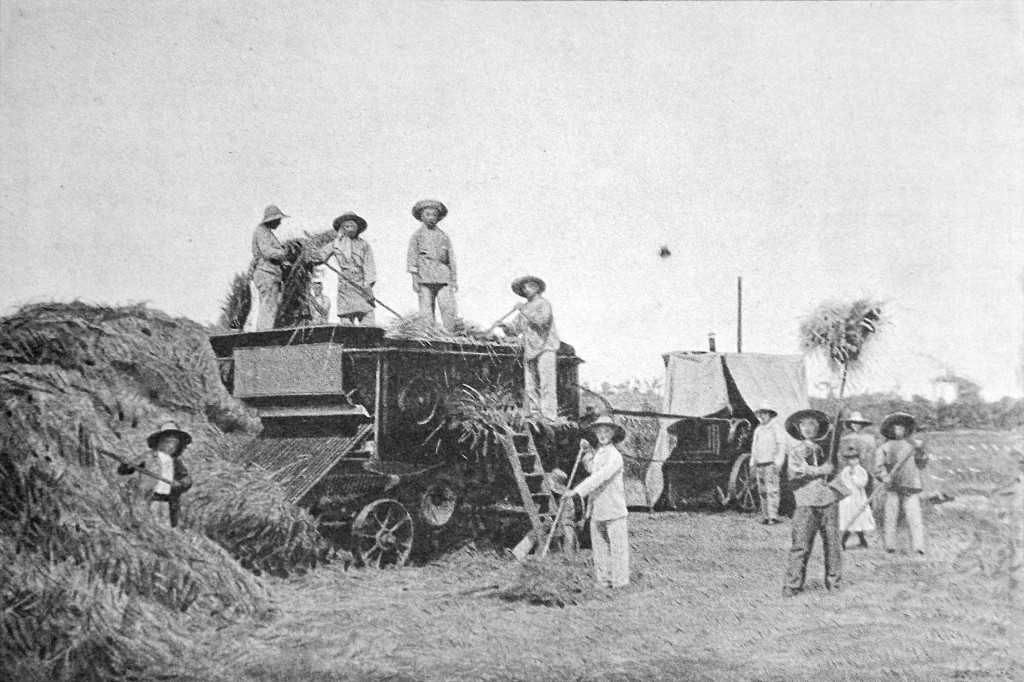 Mikveh Agricultural School: threshing machine