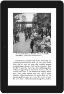 "2nd screen shot from ""Jewish Immigrants"" book"