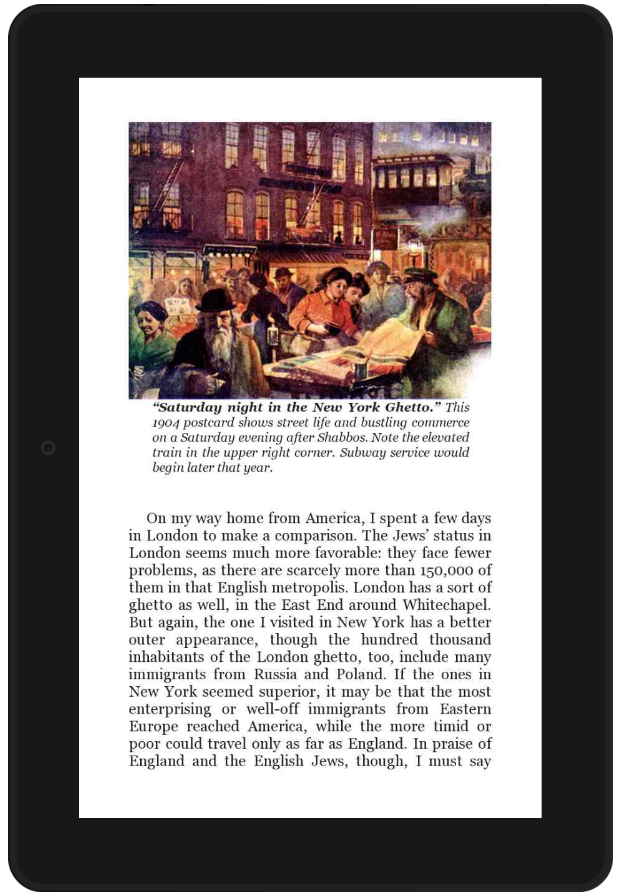 "Sample Screen from ""Jewish Immigrants"" book"