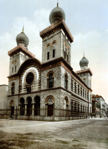 Exterior of synagogue in Turin, Italy
