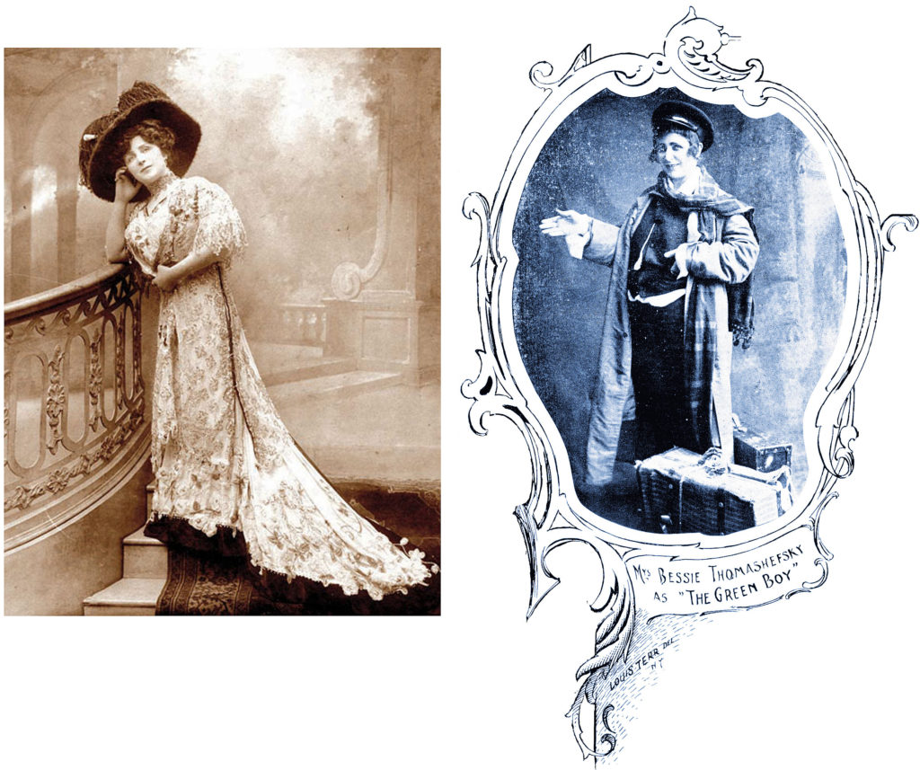 Two photos of Bessie Thomashefsky