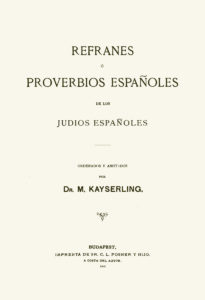 Book cover - Collection of Sephardic proverbs.